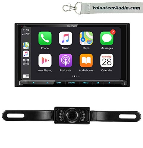 Kenwood DDX9906XR Double Din Touchscreen DVD Receiver Radio With Apple CarPlay, Android Auto, SiriusXM Ready, Free Reverse Backup Camera -  Volunteer Audio, CHCAM DDX9906XR