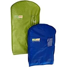 The Green Garmento Reusable Dry Cleaning Bag Set, 40 by 48-Inch, Multicolor