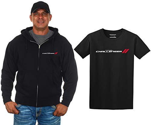 JH DESIGN GROUP Men's Dodge Challenger Zip-Up Hoodie & T-Shirt Combo Gift Set (Large, - Dodge Sweatshirt