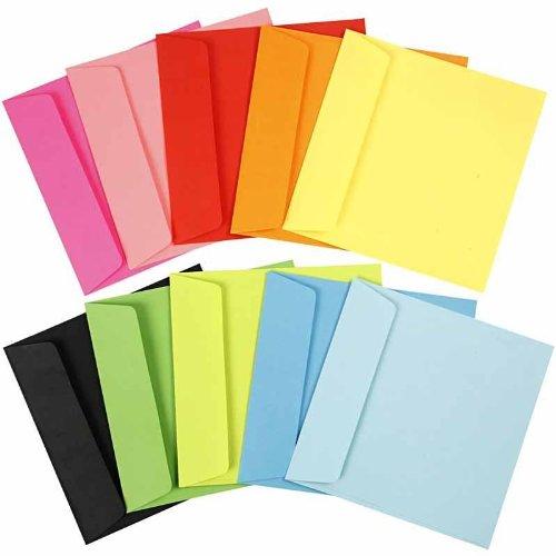 medidas 15x15 cm 80 gr Sobres de colores 100surtido