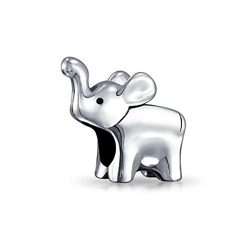 Elephant Charm - Lucky Elephant Animal Bead Charm .925 Sterling Silver