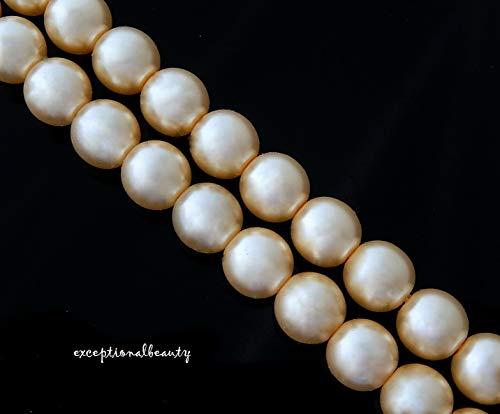 - 40 Exquisite Victorian Ivory Cultura Preciosa Czech 8mm Crystal Pearls Beads
