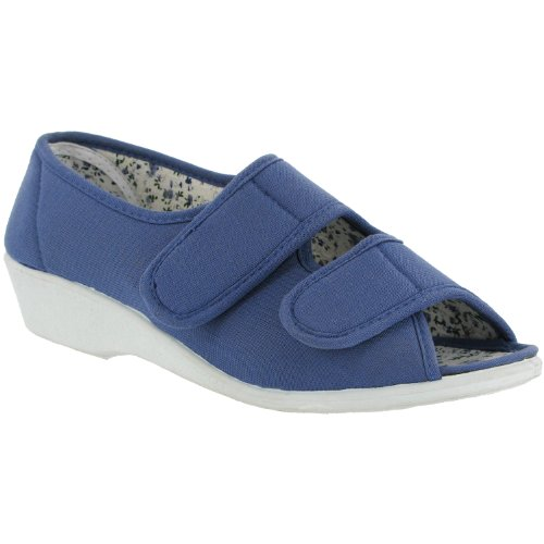 Mirak Touch Fastened Textile Lined Womens Shoes - Blue - Size 3 4 5 6 7 8 Azul