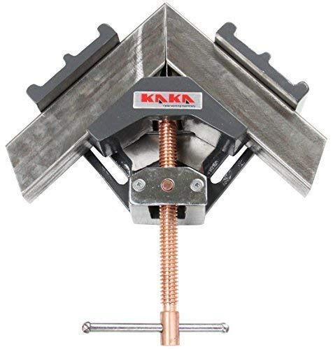 KAKA AC-100 Angle Clamp, Solid Construction, 90 Degree Welding Angle Clamp, Heavy-Duty Cast-Iron Angle Clamp Vice by KAKA INDUSTRIAL (Image #6)