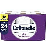 Cottonelle Ultra ComfortCare Soft Toilet Paper, 12 Double Rolls, Bath Tissue