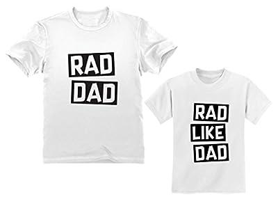 Rad Dad - Rad Like Dad Matching Father & Son Set Funny Dad & Me Matching Shirts