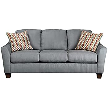 Ashley Furniture Signature Design - Hannin Sleeper Sofa - Queen - 3 Seat Contemporary Couch with Sofa Bed - Gray Lagoon