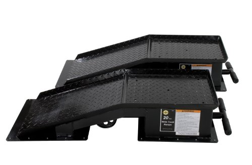 Omega 93201 Black Wide Truck Ramp - 20 Ton Capacity ()