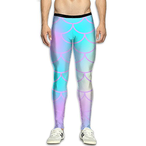 65ed2a1d499ab MADSDKFULA Blue Fish Skin With Scale Pattern Youth Yoga Tight Trousers  Workout Sport Long Pants