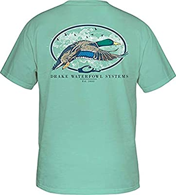 Drake Waterfowl Oval Flying Drake Short Sleeve T-Shirt