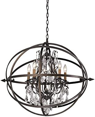 Troy F2996 – Byron Collection Chandelier in Vintage Bronze