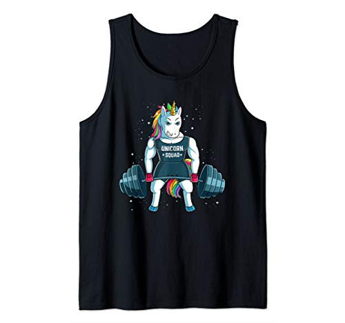 Unicorn Weightlifting Funny Workout Gym Tank Top