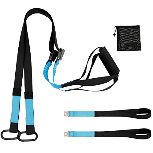KEAFOLS Fitness Training Pro Suspension System Training Kit Professional Gym Fitness Training Straps for Home Gym Workout