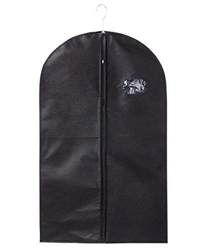 Price comparison product image Mvchif Suit Bag Breathable Dustproof Garment Bags with Clear Window Zipper Closure for Dresses Coats Storage Travel 5024inch (Black)