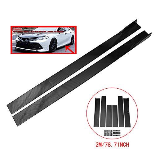 ZEEOS Universal Carbon Fiber Look Side Skirts Extension Rocker Panel Splitter For Infiniti,HONDA,Nissan,Toyota,etc.Length ()