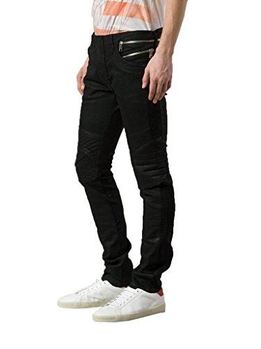 Balmain Men's Black Coated Skinny Biker Jeans US 29 IT - Men Balmain