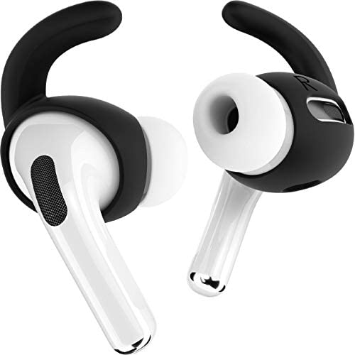 Proof Labs 3 Pairs AirPods Pro Ear Hooks Covers [Added Storage Pouch] Accessories Compatible with Apple AirPods Pro (Jet Black)