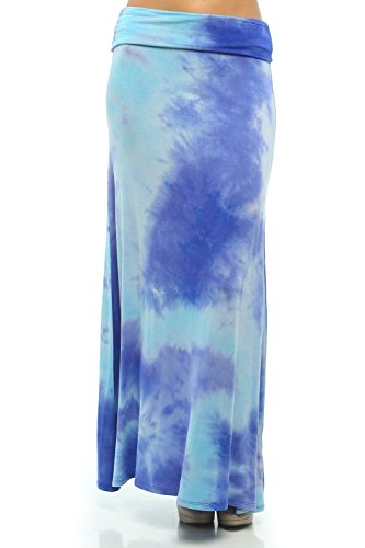 Bamboo Tie Dye - ColorMC Women's Bamboo Tie-Dye Maxi Skirt Large SSS