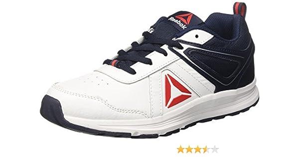 Reebok - Zapatillas de Running para Niños, Blanco (White / Collegiate Navy / Primal Red), 38.5 EU: Amazon.es: Zapatos y complementos