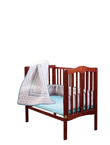 Baby Doll Bedding Soho Mini Crib/ Port-a-Crib Bedding Set with 100% cotton trellis design sheet, Blue (Quilted Crib Set)