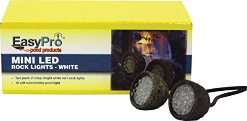 EasyPro Pond Products Super Bright LED Light (2 Pack), Mini, White