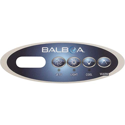 Hot Tub Panel Control (Balboa Topside Overlay, Mini Oval, Jets-Light-Cool-Warm, 11852)