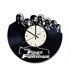 The Fast and the Furious vinyl record wall clock Vin Diesel clock gift idea for birthday, christmas, women, men, friends, girlfriend boyfriend and teens - living kids room nursery