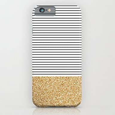 new style 312de a9343 Society6 - Minimal Gold Glitter Stripes iPhone 6 Case by Allyson ...