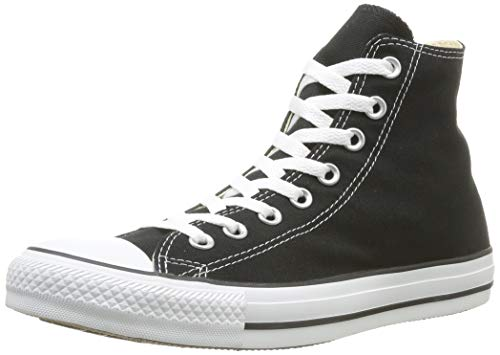 Chuck Taylor All Star Canvas High Top, Black, 8 (Best Price On Chuck Taylors)