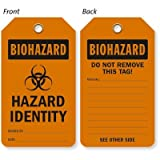 Hazard Identity With Symbol, Eco-Tag 10 mil Plastic, Eyelet Tag, 25 Tags / Pack, 5.875'' x 3.375''