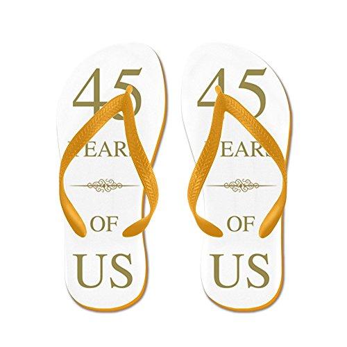 45 ° Anniversario Di Matrimonio Del Cafepress - Infradito, Sandali Infradito Divertenti, Sandali Da Spiaggia Arancione