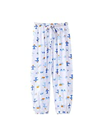 Chinatera Little Girl Cotton Harem Pants, Toddler Girls Soft Summer Casual Home Wear