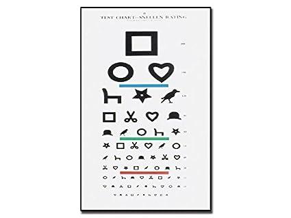 GIMA ref 31310 Mesa optométrica de Ewing para personal analfabetas, 28x56cm, tabla para medir la agudeza visual, distancia de trabajo 6m