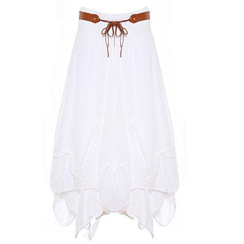 Gonna White Candy Donna Asimmetrico Clothing 4wq1q0