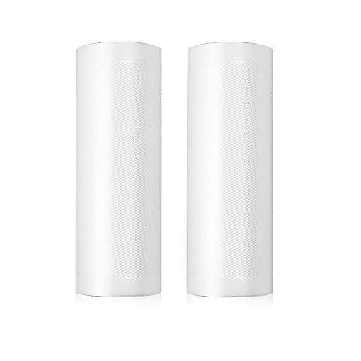"PAPRMA Vacuum Sealer Rolls 2 Pack, 11"" x 16' Commercial Food Sealers Bags"