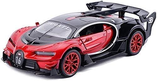 IAIZI モデルカーカーモデルカーは、スケールモデル合金のモデル午前1時32分ブガッティビジョンGTプル戻るおもちゃの車のモデ