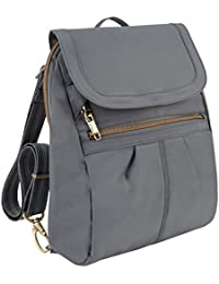Anti-Theft Signature Slim Backpack, Pewter