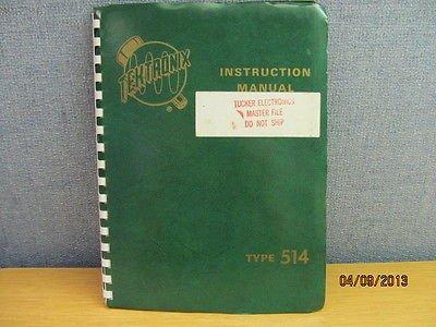 Tektronix Type 514: Cathode-Ray Oscilloscope Instruction Manual w/ schematics