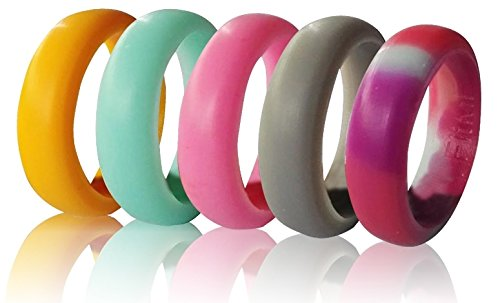 Silicone Wedding Rings Women FitME