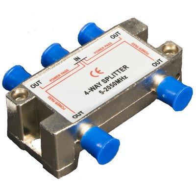 Morris 45054 4 Way Splitters with Ground Block Satellite, 5-2050 MHz