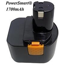 PowerSmart\xae 12V 1700mAh Ni-Cd Battery for RYOBI BID1211, CCD1201, CHD1201, CHD1202, CTH1201, CTH1202, CTH1202K2, FL1200, HP1201M, HP1201MK2, HP1201KM2, R10510, RY1201, TDS4000, TF1100, Compatible Part Numbers: 1400652, 1400652B, 1400670