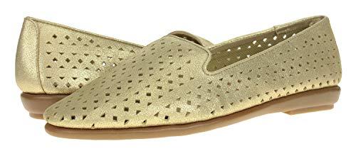 Aerosoles Women's You Betcha Slip-On Loafer, Gold Suede 8 M US (Suede Mules Aerosoles)