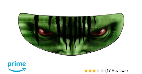 Amazon.com: SkullSkins Aggressive Rider SK Motorcycle Shield Skin (Green): Automotive