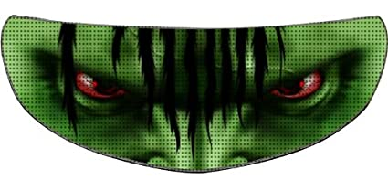 SkullSkins Aggressive Rider SK Motorcycle Shield Skin (Green)