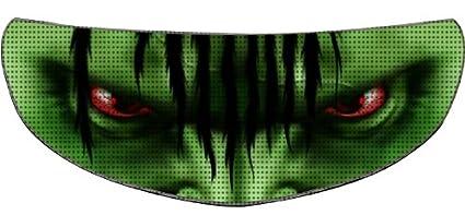 SkullSkins Aggressive Rider SK Motorcycle Shield Skin (Green)