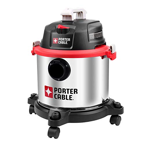 PORTER-CABLE Wet/Dry Vacuum, 5 Gallon, 4 Horsepower – PCX18406-5B