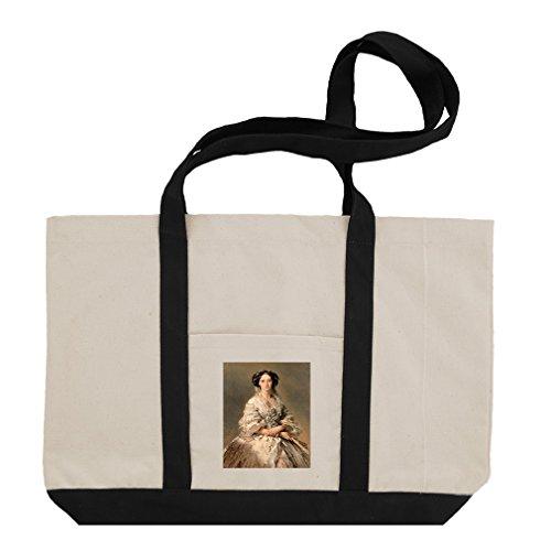 Empress Maria Alexandrovna (Winterhalter) Cotton Canvas Boat Tote Bag - (Empress Design Print)