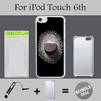 Cool Hockey Puck Custom iPod 6/6th Generation Cases-White-Plastic, Bundle 2in1 Comes with Custom Case/Universal Stylus Pen by innosub