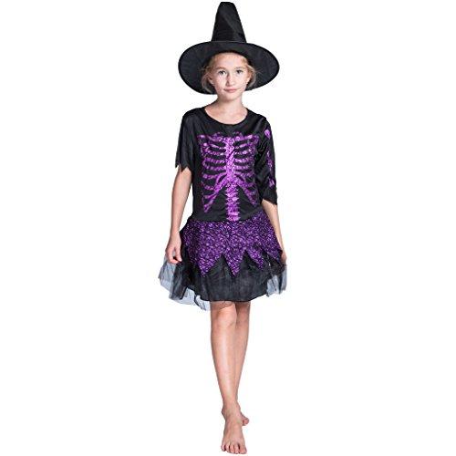 Skeleton Fairy Costume - EraSpooky Girl's Witch Costume Kids Halloween