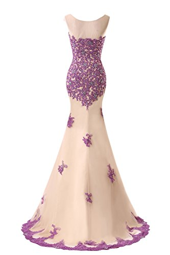 Dresses Beaded Bridal Royal Prom Appliques Blue Bess Women s Formal Mermaid ZfpOg